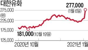 """하루 17% 뛴 대한유화…""""PER 7배 저평가"""""""