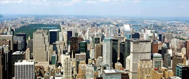 뉴욕 맨해튼 전경 한경DB