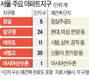 서울시, 18개 아파트지구 재건축 지원사격…압구정·여의도는 제외
