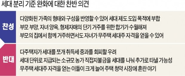 """""""성인 자녀 청약 길 열어줘야"""" vs """"꼼수 절세 우려"""""""
