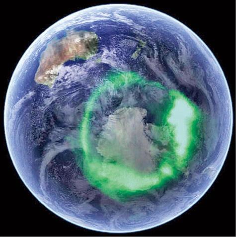 위성에서 촬영한 오로라 타원체.  NASA 홈페이지