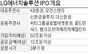 LG에너지솔루션, 상장 주관…KB증권·모건스탠리 등 선정