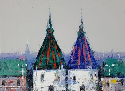 East Side20-DE20, 37.4X24.2cm, oil on canvas, 2020