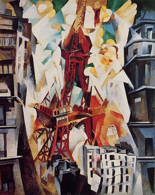 로베르 들로네, 샹 드 마르스: 에펠탑, 1911년, 시카고미술관