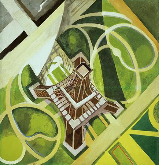 로베르 들로네, 에펠탑과 샹 드 마르스 공원, 1922년, 워싱턴 D.C. 허시혼미술관