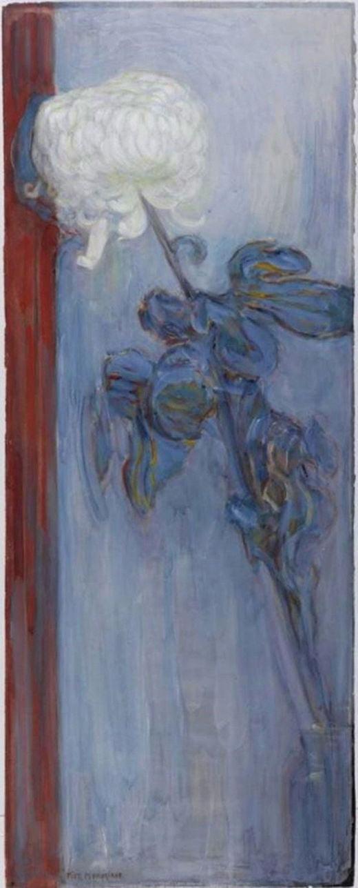 피트 몬드리안, 국화, 1908년, 헤이그 시립미술관