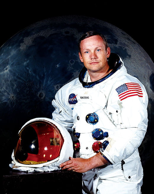 아폴로 11호의 선장 닐 암스트롱.