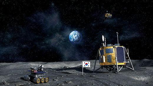 우리나라에서 발사할 달 궤도선과 달 착륙선의 상상도.