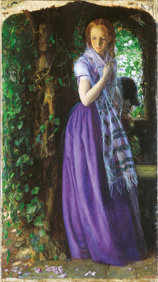 아서 휴즈, 4월의 사랑, 1855~1856년, 영국 테이트 브리튼