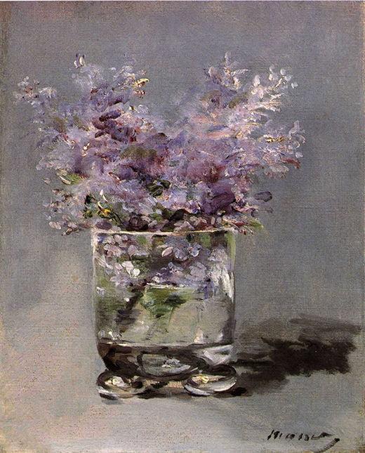 에두아르 마네, 라일락 꽃병, 1882년경, 개인 소장