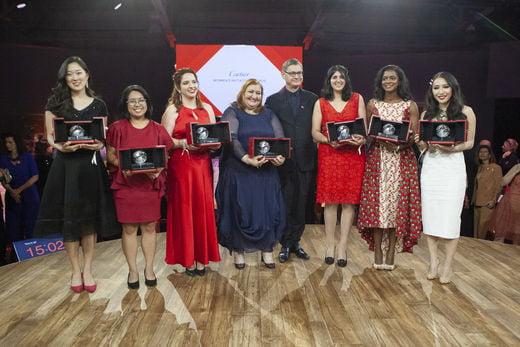 우먼스 파빌리온의 근간이 된 '까르띠에 여성 창업 이니셔티브'의 2019년 수상자들. 한국의 조연정(SAY Global 대표)이 한국 최초로 수상의 영예를 안았다.