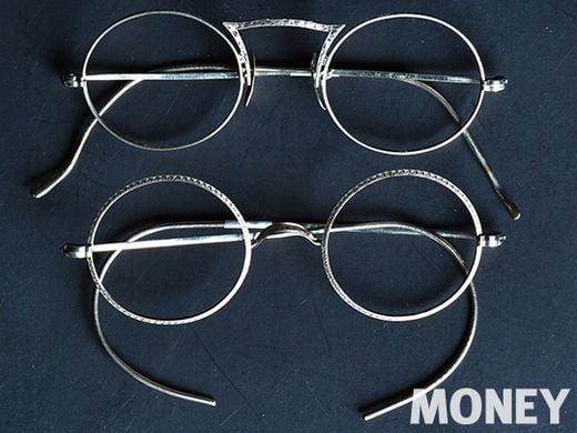 1900년대 초반을 대표하는 안경들. 12K 화이트 골드로 금장 도금, 코 받침은 14K 금으로 돼 있으며 안경회사에서 고용한 보석세공사들이 아트 누오보(art nouveau) 문양을 촘촘히 새겨 넣은 럭셔리 모드의 안경들. 위 제품은 아메리칸옵티컬(AO)의 티볼리 모델. 피콕스 테일 브리지(Peacock's tail Bridge) 혹은 크라운 브리지(Crown Bridge)라 불리는 디테일이 특징이다. 아래 제품은 같은 AO의 윈저(Windsor) 모델.