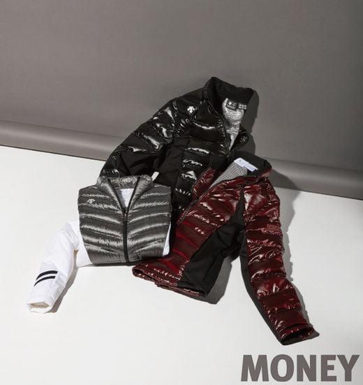 데상트골프 포지드 쉴드 다운 점퍼와 그래비티 다운 재킷