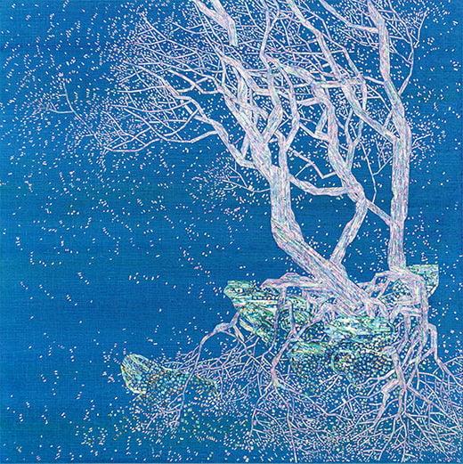 After Nature, 캔버스에 아크릴릭·자개, 70×70cm, 2016년