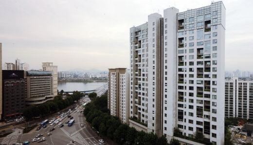 우리나라 역대 최고가 아파트로 발표된 서울 강남 마크힐스.사진 한국경제DB