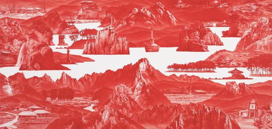 Between Red-152, Oil on Linen, 95×200cm, 2012년