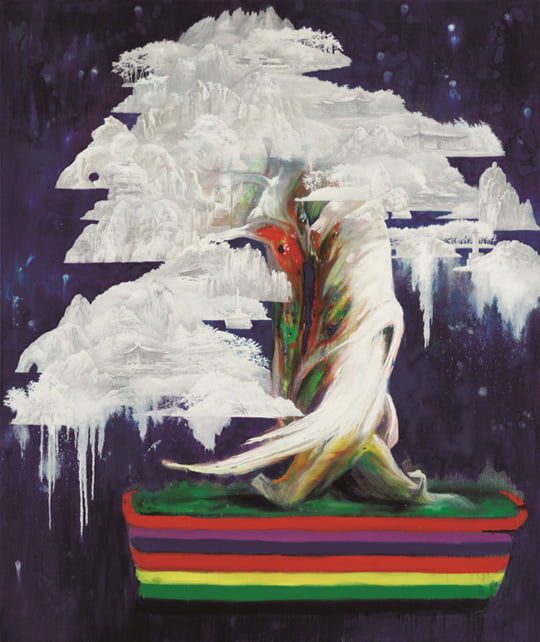 Rainbow in White, Oil on Linen, 250×210cm