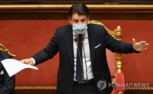 '의회 신임' 이탈리아 연정 벼랑끝 기사회생…앞날은 가시밭길(종합)