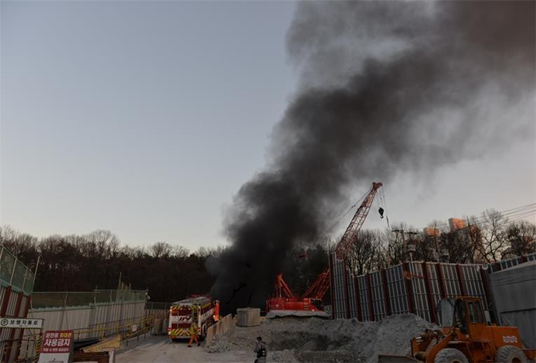 고양 GTX A노선 지하터널 발파작업 중 화재…인명피해 없어