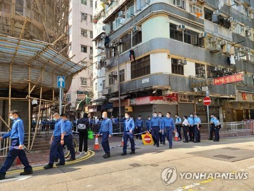 홍콩 1만명 봉쇄한 날 코로나 누적환자 1만명 넘어