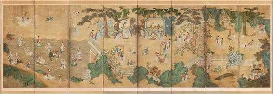미국서 50년만에 귀환 조선왕실 대형병풍 '요지연도' 첫 공개