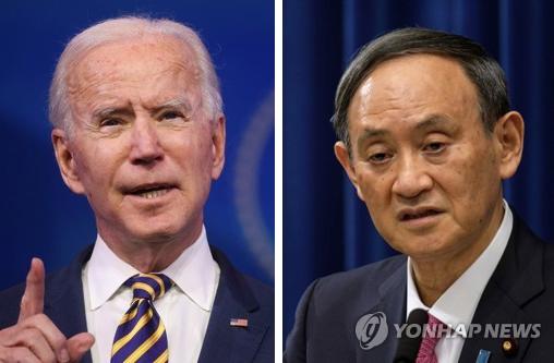 日, 미일정상 통화서 '중국 견제 3종세트' 확인하고 반색