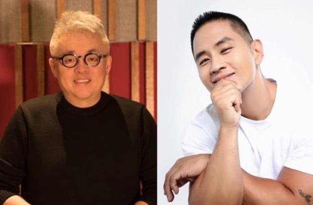 작곡가 김형석(왼쪽), 가수 유승준. /텐아시아DB