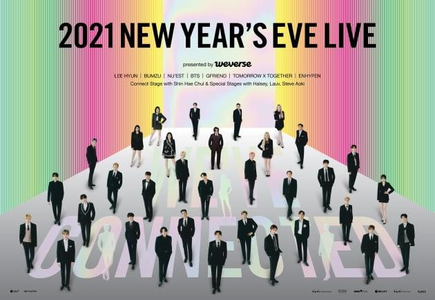 빅히트 첫 레이블 콘서트 '2021 NEW YEAR'S EVE LIVE' /사진=빅히트엔터테인먼트 제공