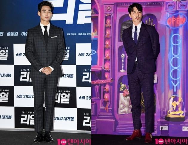 배우 김수현(왼쪽)과 차승원. /텐아시아DB
