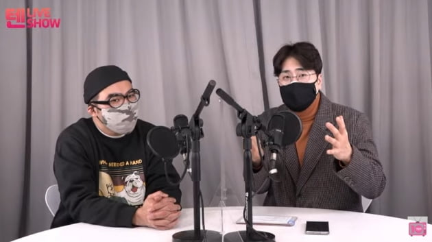 개그맨 김지호(왼쪽), 황영진/ 사진=유튜브 '티비텐' 캡처