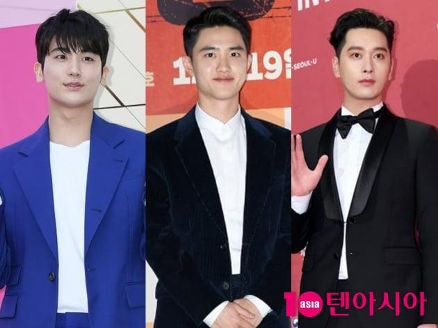 배우 박형식(왼쪽부터), 도경수, 황찬성/ 사진=텐아시아DB