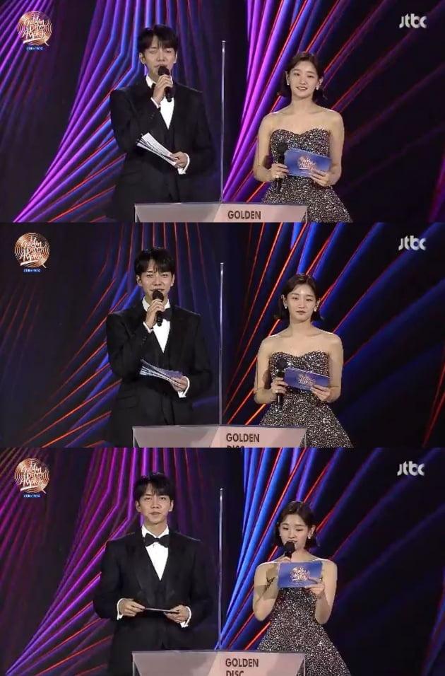 '2021 골든디스크 어워즈' 이승기, 박소담 / 사진=JTBC 방송화면