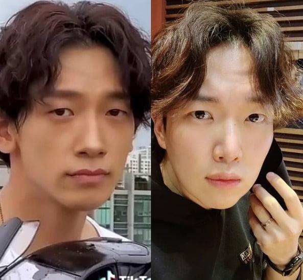 가수 비(왼쪽), 방송인 장성규./사진=장성규 인스타그램