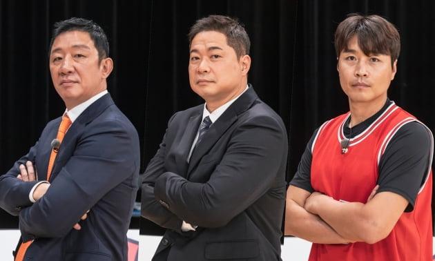 '뭉쳐야 쏜다' 감독 허재(왼쪽부터), 코치 현주엽, 이동국/ 사진=JTBC 제공