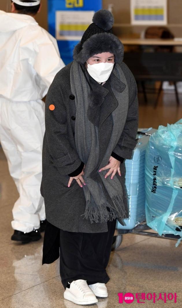 [TEN 포토] 에이미 '그리운 한국에서 첫 인사'