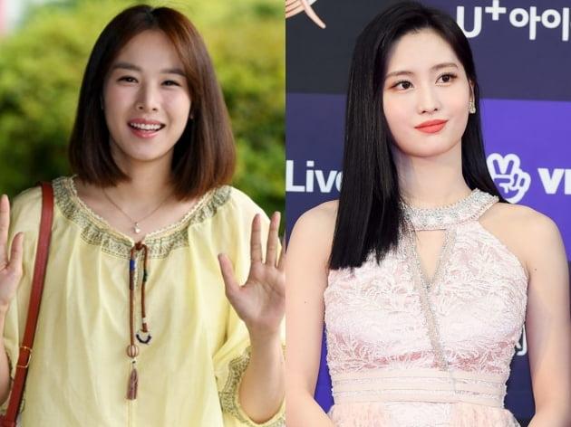 배우 조윤희(왼쪽)와 트와이스의 모모. /텐아시아DB