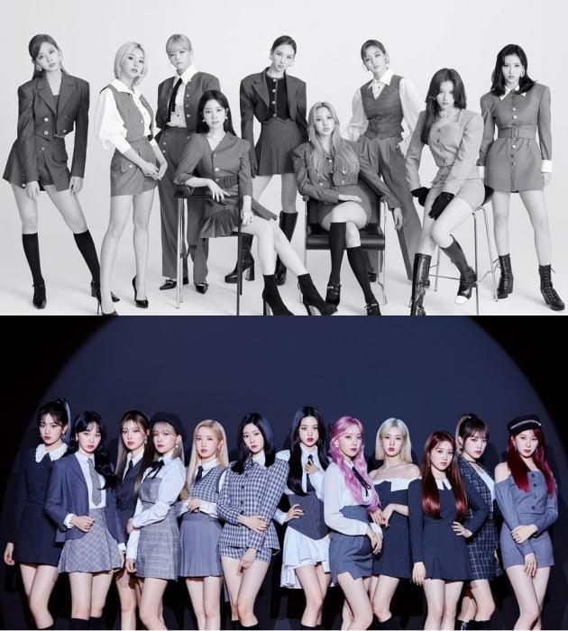 그룹 트와이스, 아이즈원 / 사진제공=JYP, 스윙엔터테인먼트