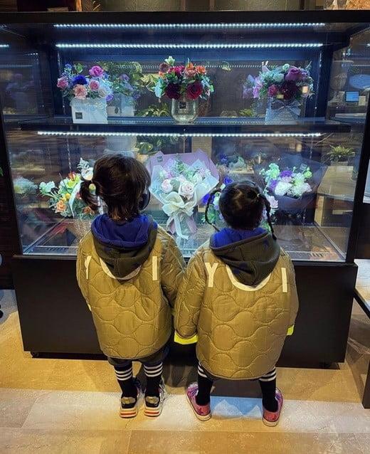 힌그루, 쌍둥이 남매 사진 공개 /사진=SNS