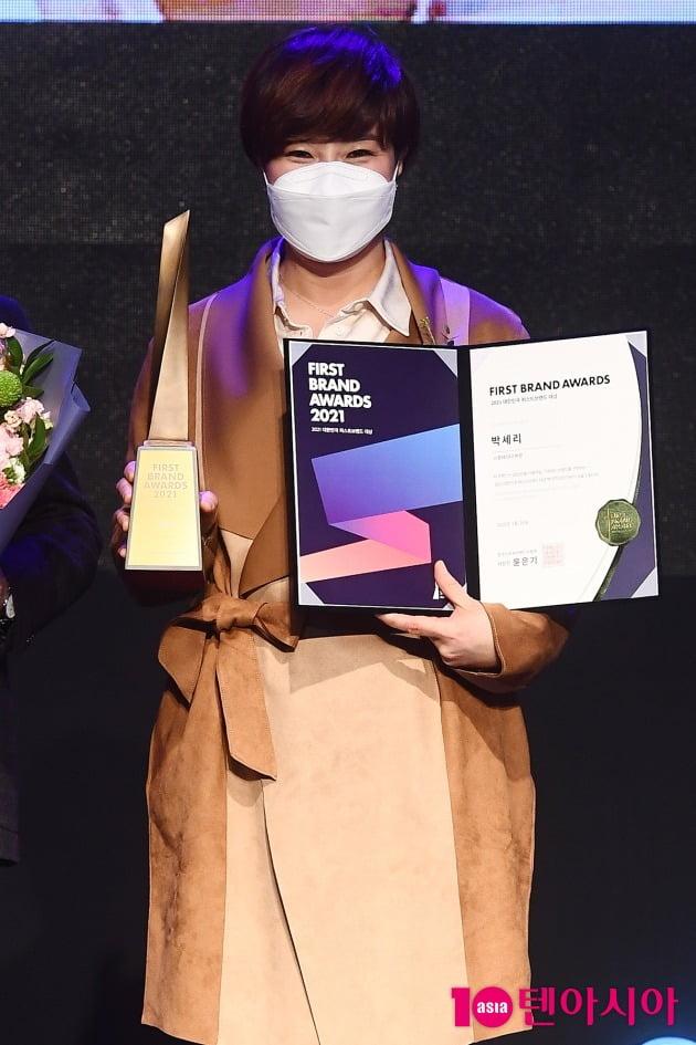 [TEN 포토] 박세리 '스포테이너상 수상'