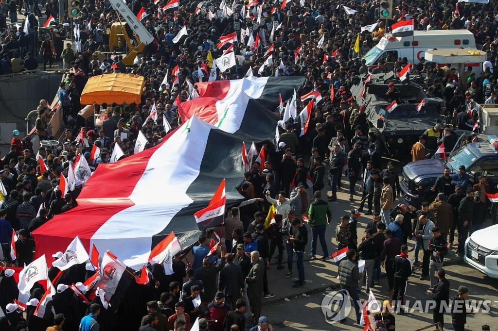 이라크서 솔레이마니 사망 1주기 맞아 대규모 반미 시위