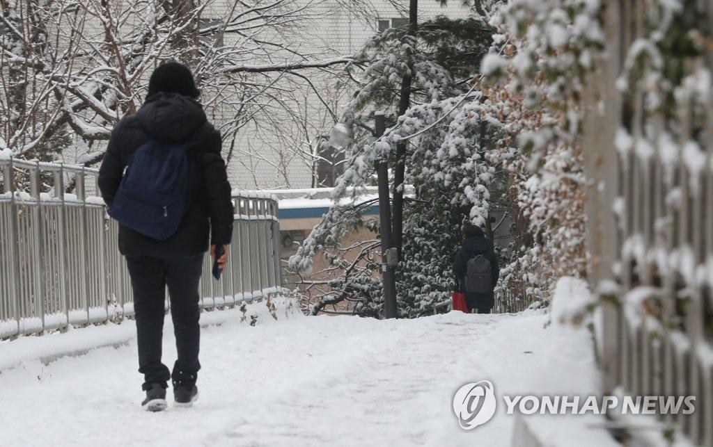 """경기남부 최고 7.9cm 눈…""""출근길 안전 유의"""""""