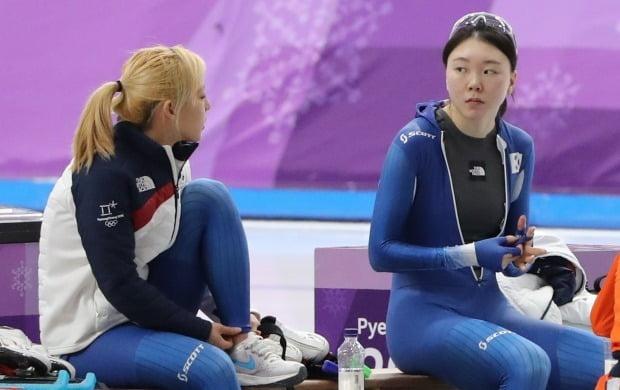 평창올림픽 왕따 논란 당시 김보름(왼쪽)과 노선영 선수/사진=연합뉴스