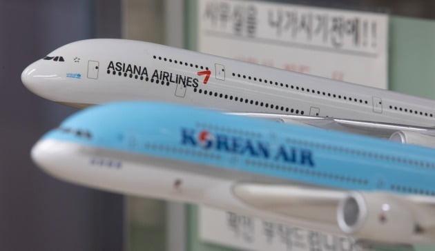 '9부 능선'을 넘은 대한항공의 아시아나항공 인수 작업이 '마지막 관문'인 공정거래위원회의 기업결합 심사에 다다랐다. 사진=뉴스1