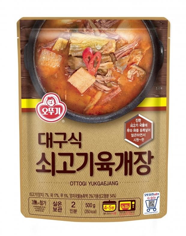 오뚜기 홍보실입니다 얼큰 시원한 정통 육개장의 진한 맛! '대구식 쇠고기육개장' 출시