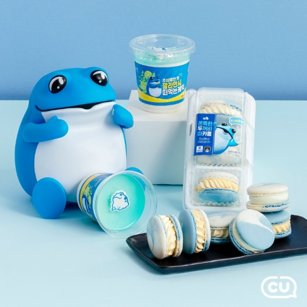 먹어도 취하지 않는 진로 맛보실래요?... CU-하이트진로, 업계 최초 두꺼비 캐릭터 활용한 디저트 시리즈 출시
