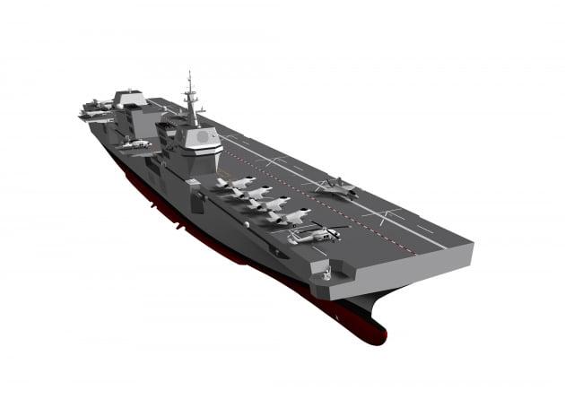 해군 경(輕)항모 최신 조감도 공개…경항모 도입될까