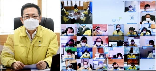 """박남춘 인천시장 """"재난지원금 설 연휴 전에 지급해야"""""""
