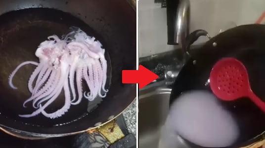 오징어가 데 치니 모양으로 사라져 … 중국 가짜 음식에 잡혔다