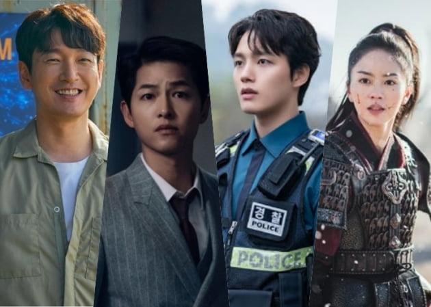 왼쪽부터 배우 조승우, 송중기, 여진구, 김소현/사진=각 드라마 스틸