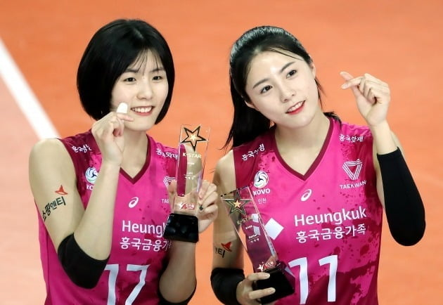 흥국생명 이재영(왼쪽)과 이다영/사진=연합뉴스